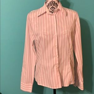 Zara Woman Striped Professional Button Down XL
